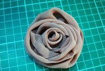 Розы из шифона