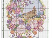 Xszem: Virág madárral,lepkével,stb