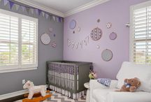 Baby's room purple and grey