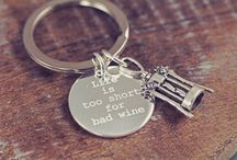 Key Rings / Personalize your key ring for that special someone in your life! Quotes, names and even photos!