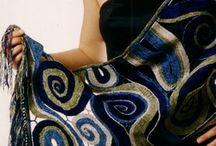 Kantklos sjaals en kleding