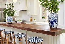 @ Kitchen blue and white