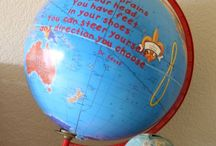 crafts - altered globes & maps