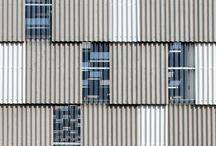 profiled sheeting facade
