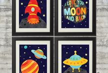 Space art for boys / by Deb Antonick