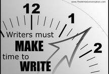Writing - Making Time to Write / For the writer: time management.