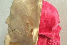 #skull #sculpture #red