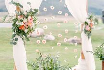 Wedding arbour styling