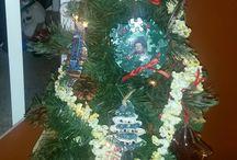 Kids Christmas / Ornament Tree for Kids homemade Ornaments