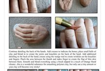 детали лепки человека /  руки ,ноги,тело и т. п. всё о человеке)
