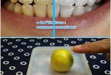 Dents Blanches / Nos meilleurs trucs et astuces pour avoir des dents blanches facilement et naturellement.
