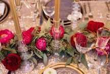 Coral, Copper, Lush Greens with Pops of Hot Pink