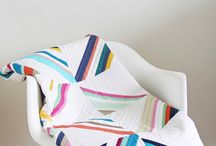 Solid fabric quilts