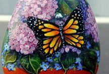 blomster og sommerfugler