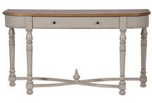 Gloucester Elm Grey Distressed Furniture / The Gloucester range exudes classic sophistication whilst boasting a modern twist on traditional French country styles. Crafted with curved legs and beautifully finished with a distressed grey colour whilst complemented by contrasting table tops. The highly versatile range is ideal for both formal and casual settings.