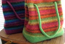 Bags, Bags, and more Bags. Some felted too! / by Garna Barker