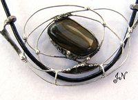 Cínované šperky / Cínované šperky vyrobeny z minerálních kamenů.