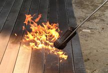 Burnt wood .Shou sugi ban