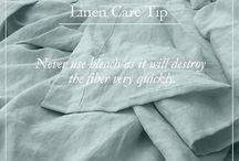 Linen Care Tips / Tips on how to take care with your linen bedding & loungewear.