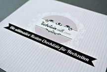 Hochzeits-Papeterie / Ideen uns Inspirationen für Einladungen, Danksagungen und vieles mehr ...