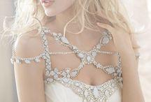 Swarovski crystal wedding dresses / Wedding dresses detailed with swarovski crytals. Come design your perfect dress at www.belledemoiselle.co.za