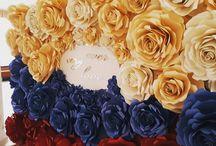 стена идея цветы и щарик