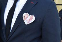 Fotoanstecker / Anstecker mit euren Fotos für Hochzeiten und Geburtstage.