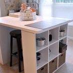 mesas con estantes