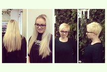 Before and after  / Before and after shot of clients and staff members make overs