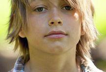 Coupe garçon cheveux long