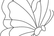 lepke bogár fekete-fehér / butterfly beetle Vintage transfer transzfer black white