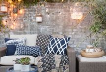 outdoorsy / outdoor decoration, ideias for patios and open areas / by Mariela Gonçalves
