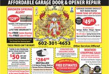 Affordable Garage Door Services / Whether you need a minor repair done, a replacement garage door or anything in between, Affordable Garage Door in Phoenix, AZ is the place to call!