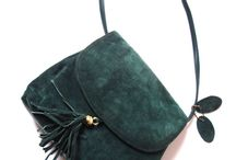 Leather - Christmas clutch
