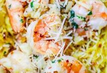 Spaghetti Squash and Shrimp