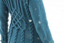 Вязание спицами - кардиган теплый