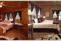 On Site Accommodations / We offer 42 refined, rustic cabins situated across our rolling, 250-acre property. Cabins can accommodate one to six guests per cabin, set with either twins or a king size bed. All cabins have yellow pine interiors, private bathrooms, and striking views of the Hill Country.