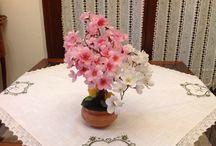 Le creazioni di giuseppe 2 / Alberelli in rame con fiori sintetici