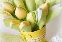 Textil tulipán készítés