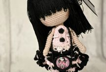 Amigurumi goth dolls