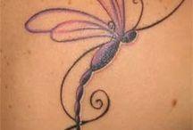 Dragon fly tattoos