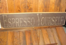 Cool Coffee Decor For our Kitchen / by Janet Linscomb