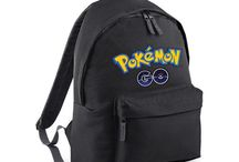 Black School Bag College Adjustable Backpack Pokemon Game Kids Fun Study Work