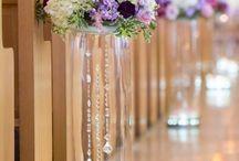 wedding flowers church