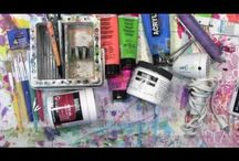 Workshops / Mixed media workshops taught by Carolyn Dube.
