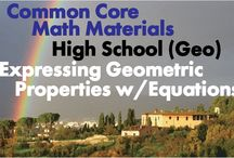 CCHS (Geo): Expressing Geometric Properties with Equations / Common Core High School (Geometry): Expressing Geometric Properties with Equations. Great teaching resources that help students 1) Translate between the geometric description and the equation for a conic section 2) Use coordinates to prove simple geometric theorems algebraically.