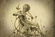 Dark and Beautiful / Illustrations, Sculptures, Paintings.....