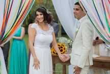 vestido de noiva casamento no campo