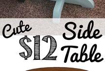 Asztalok / Tables / Étkező-, dohányzó-, konzol-, kisebb lerakó asztalok.