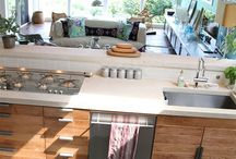 Open plan kitchen/living room